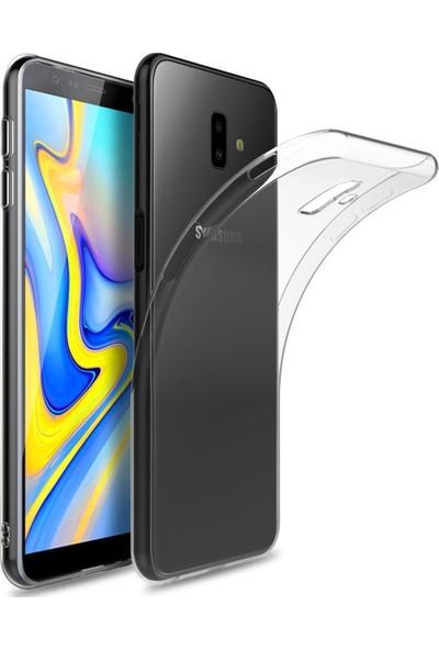 Engo Samsung Galaxy J6 PLUS Kılıf Şeffaf Silikon Slim Fit Arka Kapak Koruyucu Kılıf