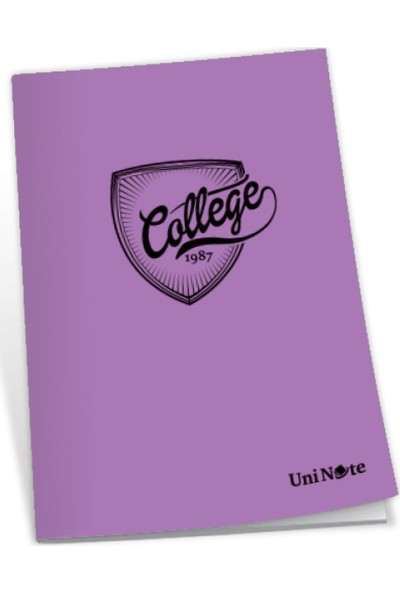 Uninote College Dikişli Pp Kapak A4 100 Yp. Kareli