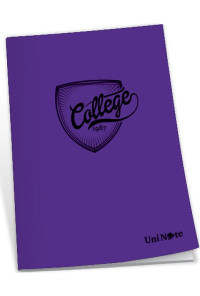 Uninote College Dikişli Pp Kapak A4 120 Yp. Çizgili