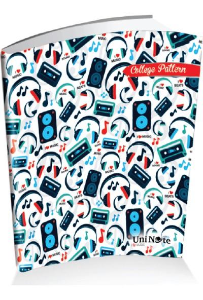 Uninote College Pattern A4 80 Yp Çizgili