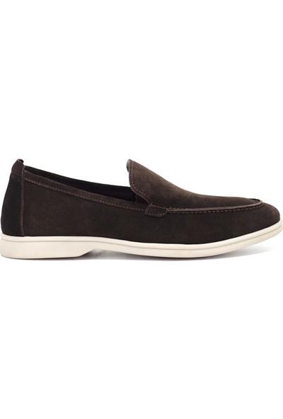 Eşle Ayakkabı 9Y-3004 Erkek Deri Günlük Ayakkabı Kahverengi Koyu