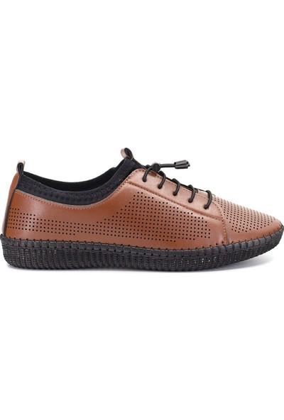 Eşle Ayakkabı 9Y-601 Kadın Günlük Ayakkabı Taba
