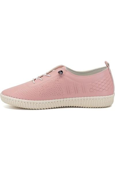 Eşle Ayakkabı 9Y-604 Kadın Günlük Ayakkabı Pudra