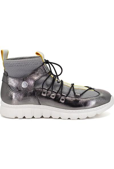 Mammamia D19Ya-4725 Kadın Günlük Ayakkabı Platin