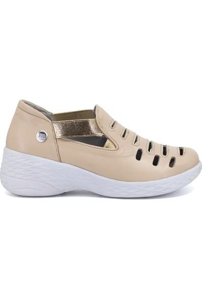 Mammamia D19Ya-785 Kadın Günlük Ayakkabı Bej