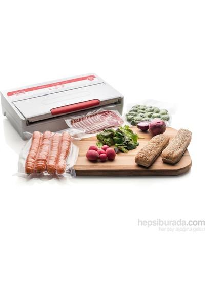 Mvln Gofrajlı Vakum Poşeti Gıda Vakum Paketleme Makinesi İçin Tırtıklı Poşet 100 Adet 25x35cm