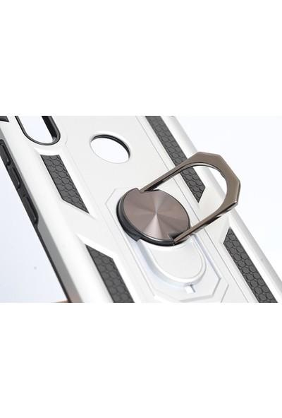 Casestore Apple iPhone 7 Plus Manyetik Yüzüklü Standlı Darbe Emici Silikon Kılıf Gold