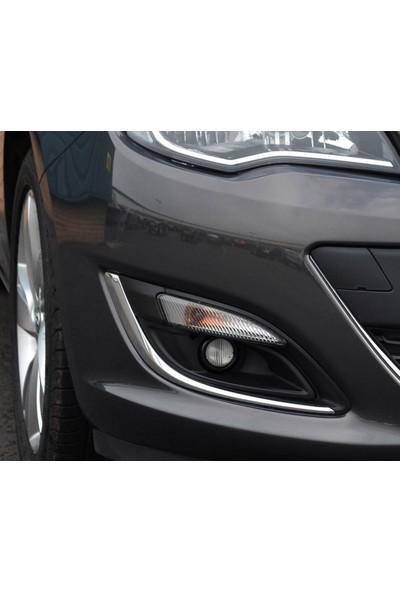 Turbo Aksesuar Opel Astra J Sis Farı Cercevesi 2 Parça Paslanmaz Çelik 2012-