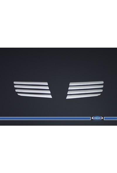 Turbo Aksesuar Nissan Qashqai Ön Panjur 8 Parça Paslanmaz Çelik 2007-2010