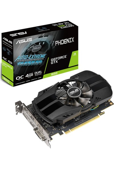 Asus Phoenix GeForce GTX 1650 OC 4GB 128Bit GDDR5 (DX12) PCI-E 3.0 Ekran Kartı (PH-GTX1650-O4G)