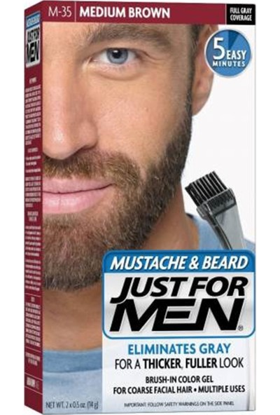 Just For Men Orta Kahve Sakal ve Bıyık Boyası M-35