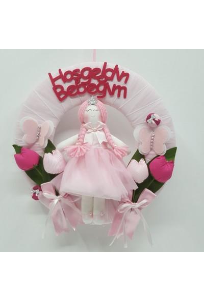 Baby Lüks Bebek Kapı Süsü - Lale Bebek Odası Kapısüsü Bebekli