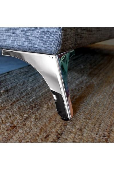 Binbirreyon Krom Koltuk Ayağı 4 Adetli Set Koltuk Berjer Puf Ayağı BK033