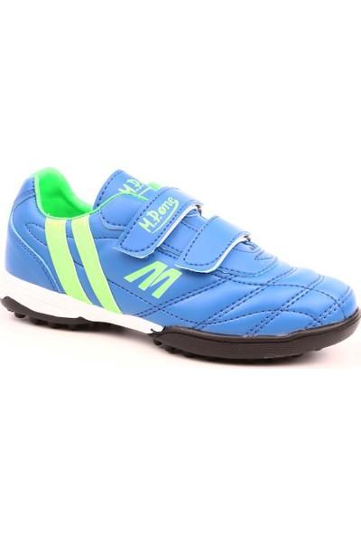M.P 191-7374Ft Çocuk Filet 191-7374 Ft Halısaha Spor Ayakkabı Mavi Yeşil