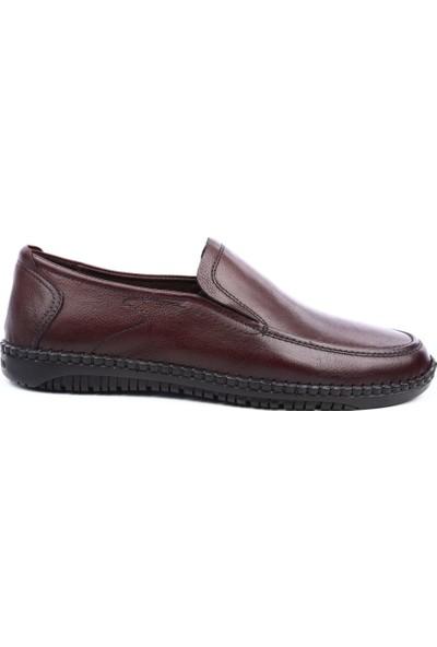 Burç 3153 Erkek Kauçuk Taban Casual Ayakkabı Kahve