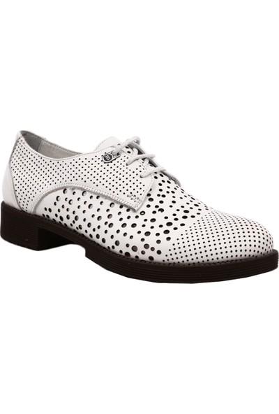 Mammamia D19Ya-3235 Kadın Günlük Ayakkabı Beyaz Faber