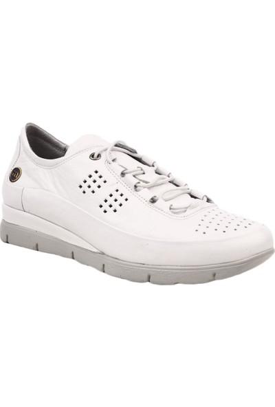 Mammamia D19Ya-3525 Kadın Günlük Ayakkabı Beyaz Pen