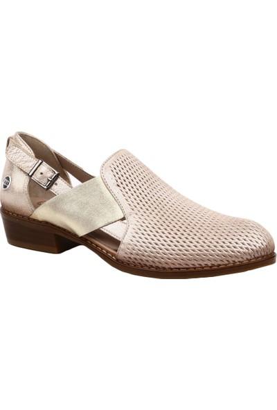 Mammamia D19Ya-3670 Kadın Günlük Ayakkabı Dore Sml Fltr/Bej Sedef