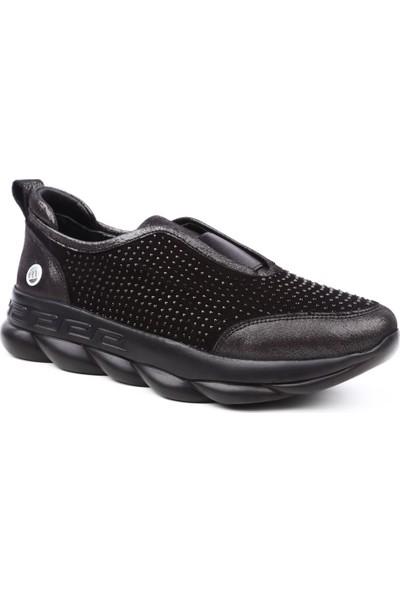 Mammamia D19Ya-3845 Kadın Günlük Ayakkabı Çelik Sml Fltr/Syh Mst Süet