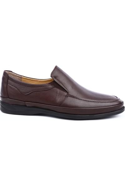 Dgn T632594 Erkek Yanı Lastikli Ekstra Comfort Ayakkabı Kahve