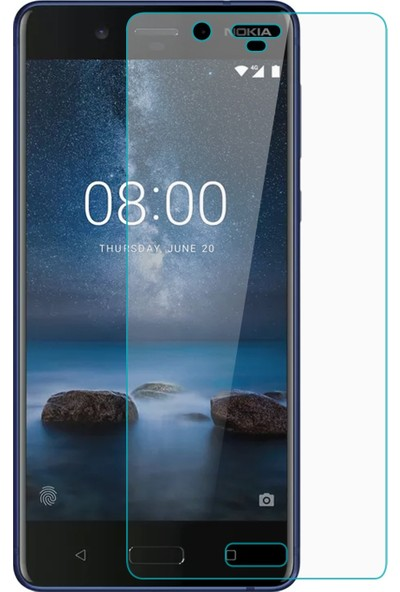 Kılıfkutusu Nokia 8 Nano Cam Ekran Koruyucu