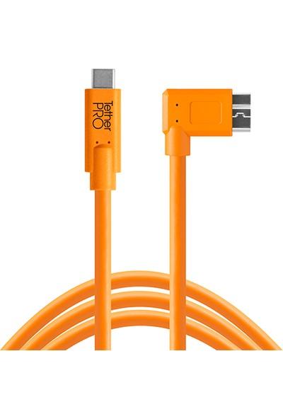 Tether Tools Tetherpro Usb-C To 3.0 Micro-B Right Angle - Dik Açı Bağlantı Kablosu 4.6M
