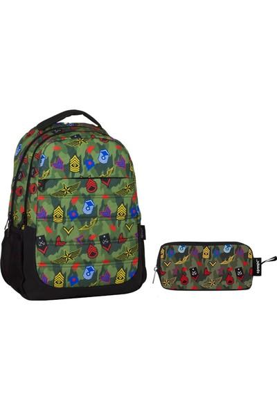 faaca5d273a8d Ümit Çanta Cennec Apolet Baskılı Yeşil İlkokul Ve Ortaokul Çanta Seti (Erkek  Çocuk) ...
