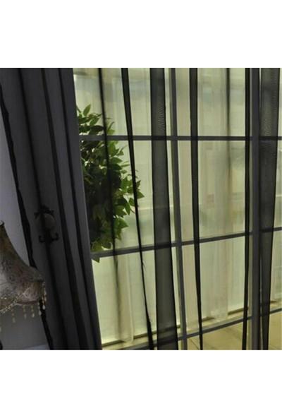Belle Cose Hazır Siyah Tül Perde Düz Dikim 200X260 cm