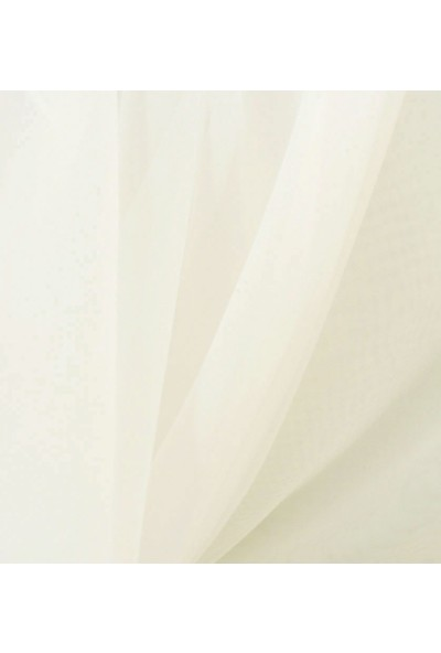 Belle Cose Hazır Krem Tül Perde Düz Dikim 200X260 cm