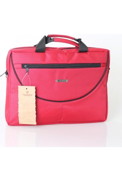 Cakard Omuz Askılı Laptop Çantası 0034-1 Kırmızı