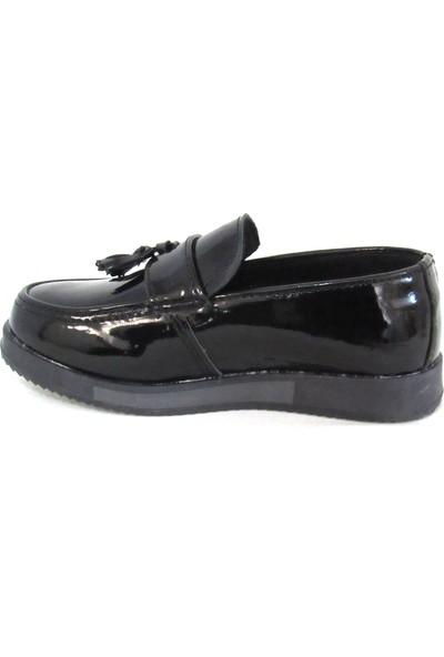 Waykers Rugan Siyah Erkek Çocuk Ayakkabı