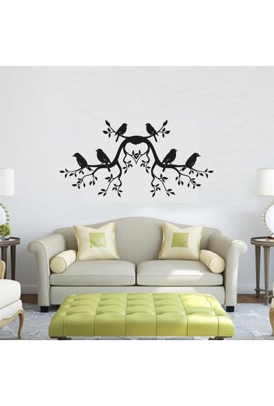 Ega Kuşlar ve Ağaç Duvar Sticker