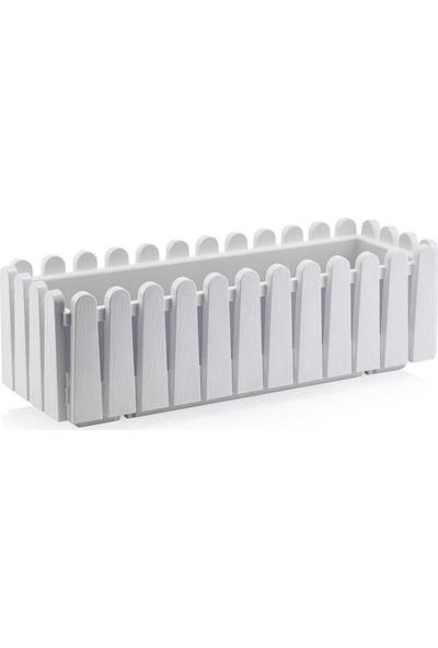 Drc Bahçe Balkon Çit Saksı Askı Aparatlı Beyaz Renk