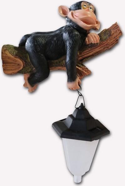 Drc Solar Ağaç ve Maymun Bahçe Aydınlatma Dekor