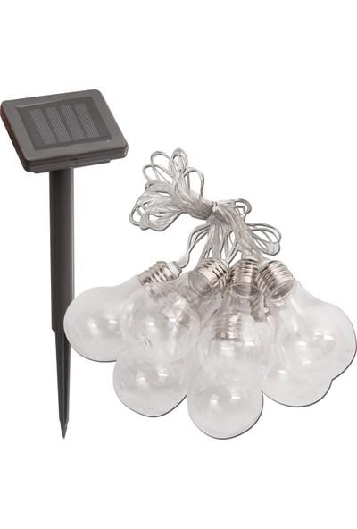 Drc Solar Şeffaf 10'lu LED Ampul Bahçe Aydınlatması