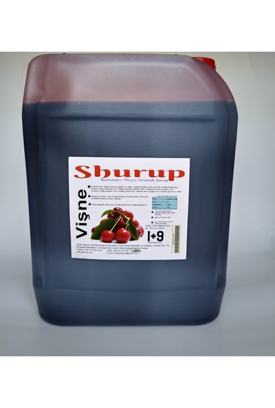 Shurup Konsantre Meyve Aromalı İçecek 6 kg Vişne+Nar(2' li)
