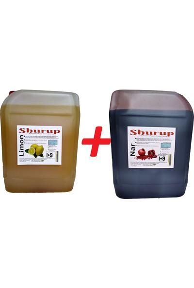 Shurup Konsantre Meyve Aromalı İçecek 6 kg Limon+Nar(2' li)