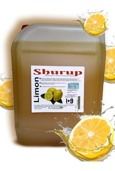 Shurup Konsantre Meyve Aromalı İçecek 6 kg Portakal+Limon(2' li)