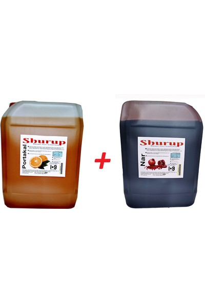Shurup Konsantre Meyve Aromalı İçecek 6 kg Portakal+Nar(2' li)