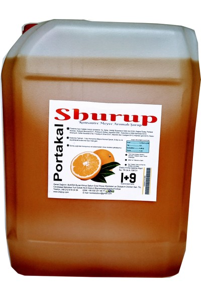Shurup Konsantre Meyve Aromalı İçecek 6 kg Karadut + Vişne + Portakal + Limon ( 4' lü)