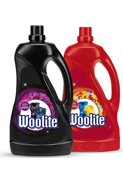 Woolite Sıvı Çamaşır Deterjanı Koyu Renkler 2500 ml + Canlı Renkler 2500 ml