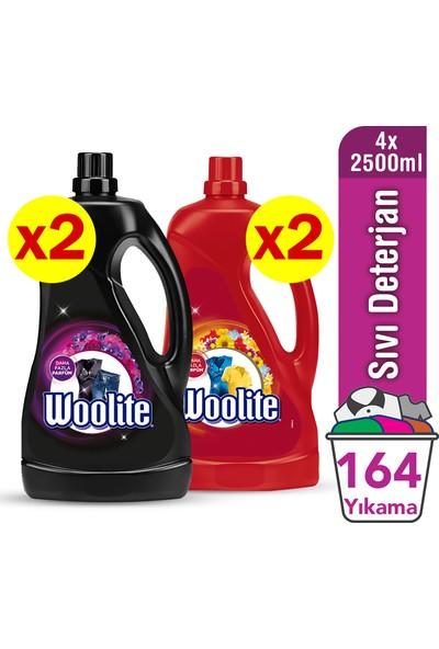 Woolite Sıvı Çamaşır Deterjanı Koyu Renkler 2500 ml x 2 Adet&Capcanlı Renkler 2500 ml x 2 Adet