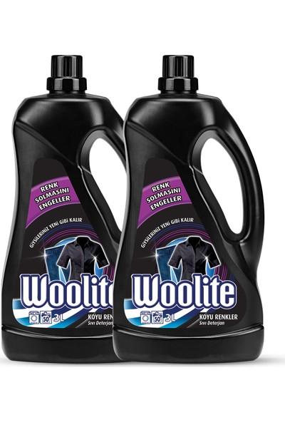 Woolite Sıvı Çamaşır Deterjanı Koyu Renkler 3000 ml x 2 Adet