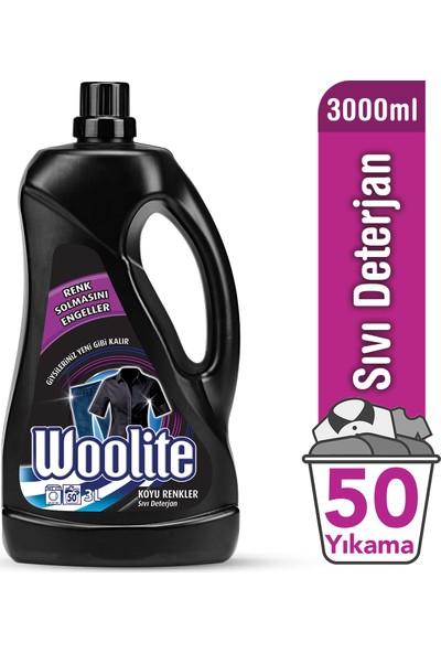 Woolite Sıvı Çamaşır Deterjanı Koyu Renkler İçin 3000 ml