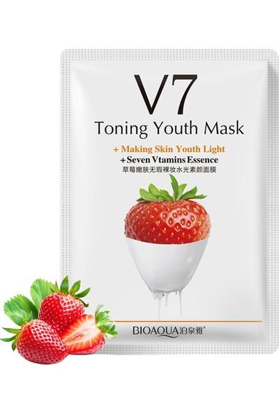 Bioaqua V7 Toning Light Çilekli Sıkılaştırıcı Gençlik Maskesi 30 gr