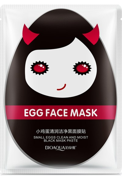 Bioaqua Devil Egg Yumurtalı Siyah Onarıcı Maske 30 gr