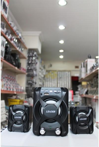 Leader Ld-12 Büro Mini Multimedia Speaker Ses Sistemi Bluetooth USB / SD / Radio