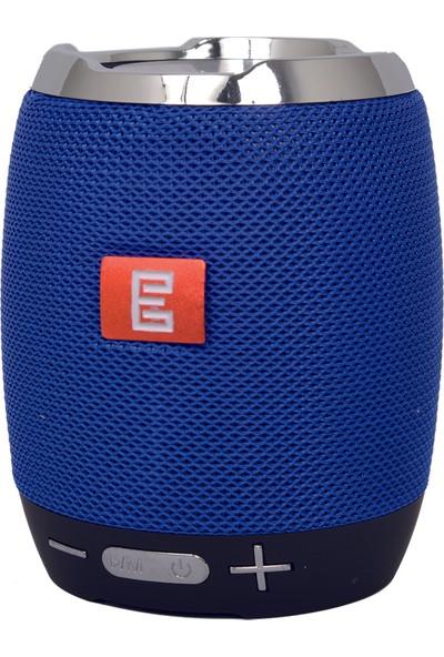Escom E-05 FM/SD/USB/AUX Bluetooth Portatif Speaker Ses Bombası Mavi