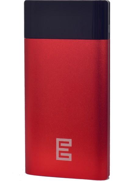 Escom Q1 10000 mAh Powerbank Taşınabilir Şarj Cihazı Kırmızı Type-C Micro Girişli