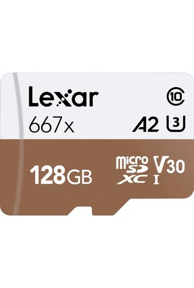 Lexar 128GB Micro SDXC UHS-I 667X C10 U3 4K V30 A2 100Mb/sn LSDMI128B667A Hafıza Kartı
